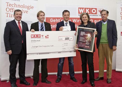 Gewinner des Tiroler Innovationspreises für Photovoltaik auf LKW Dächern mit Sunplugged GmbH