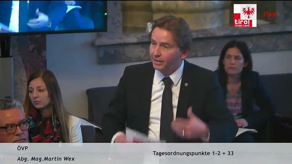 Ansprache im Tiroler Landtag