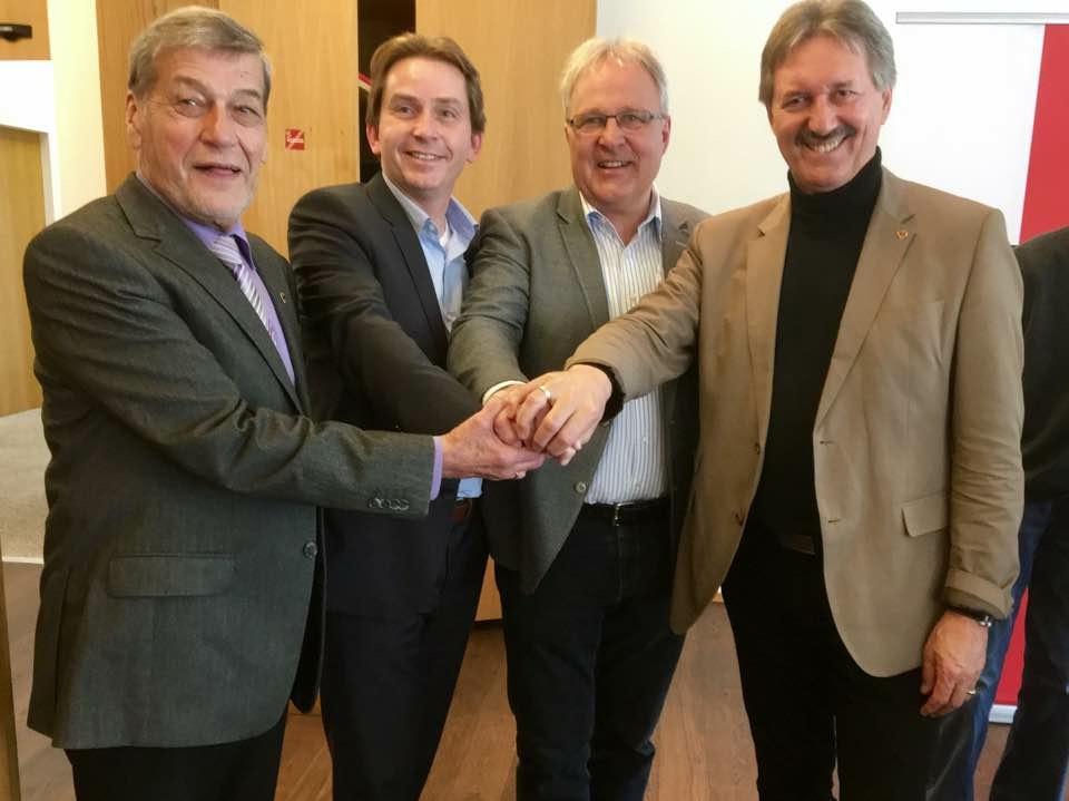 Seniorenbund Schwaz - gemeinsam mit Obmann Walter Egger, BM Lintner und NR Harmmann Gahr