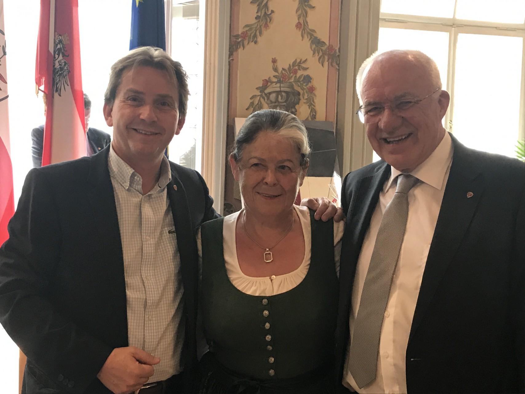 Geburtstag mit LT Präsident Herwig van Staa