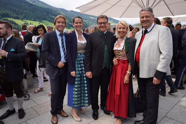 Alpbach mit LH Platter, Barbara Thaler, Barbara Schwaighofer und Minister Rupprechter